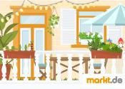 Grafik Balkon zum Garten