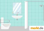 Grafik barrierefreies Badezimmer