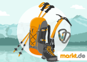 Grafik Bergsteigerausrüstung