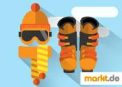 Grafik Skiausrüstung für Skiurlaub