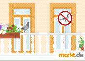 Grafik Taubenschutz am Balkon