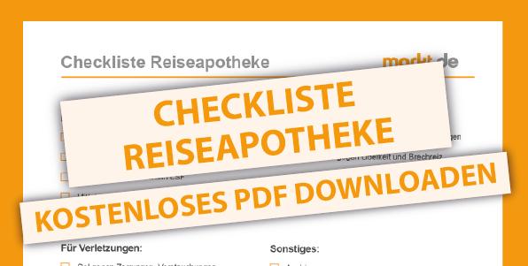 Bild Checkliste Reisapotheke