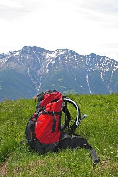 Bild Wanderrucksack in den Bergen