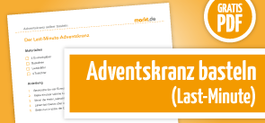 Grafik Bastelanleitung Last-Minute-Adventskranz als PDF