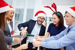 Bild Weihnachtsfeier im Büro