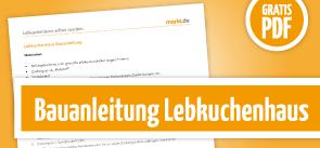 Grafik Download Lebkuchenhaus Bauanleitung