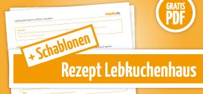 Grafik Download Lebkuchenhaus Rezept mit Schablonen