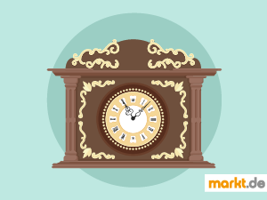 Grafik antike Uhr
