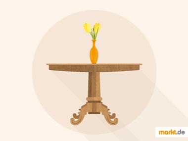 Grafik Tisch im Biedermeier-Stil
