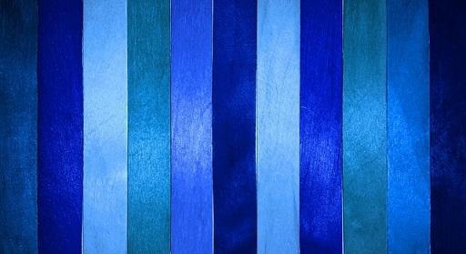 Bild Blaue Wandfarbe