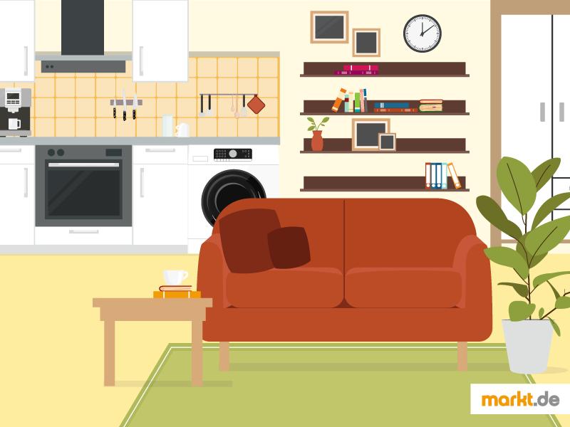 Die 1 Zimmer Wohnung: Eine Herausforderung Für Sie Und Ihn. Grafik  Einzimmerwohnung Einrichten