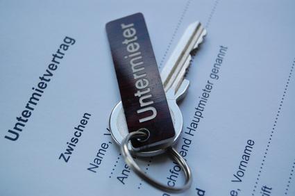 Bild Mietvertrag für Untermieter