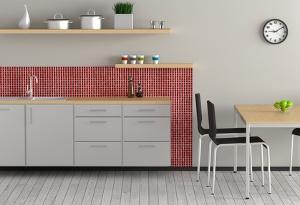 Bild Küchenzeile mit Esstisch