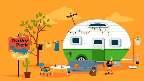 Wohnwagen Urlaub