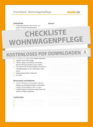 Checkliste Wohnwagenpflege